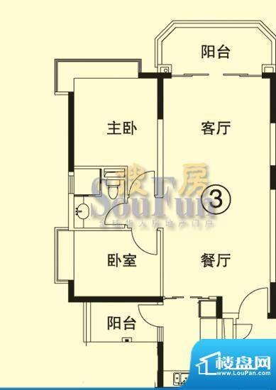 恒大绿洲6号楼03单位面积:85.80平米