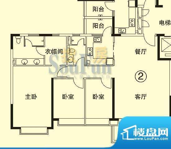 恒大绿洲6号楼02单位面积:144.88平米