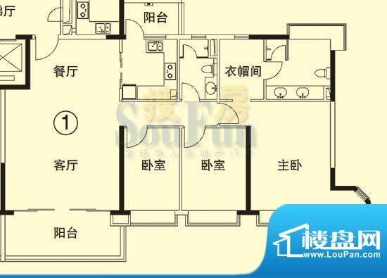 恒大绿洲6号楼01单位面积:148.45平米