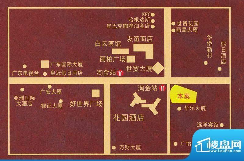 正佳东方国际公寓交通图