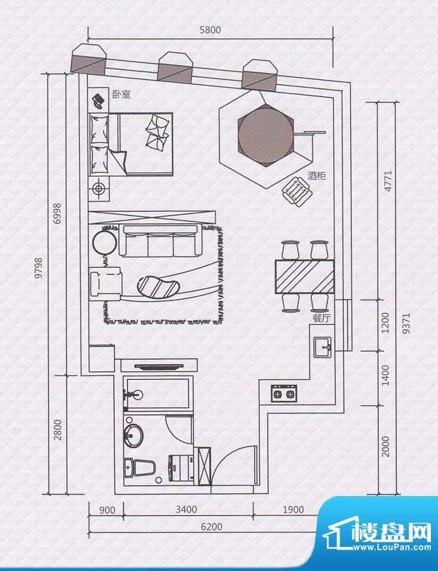 正佳东方国际公寓13面积:79.89平米
