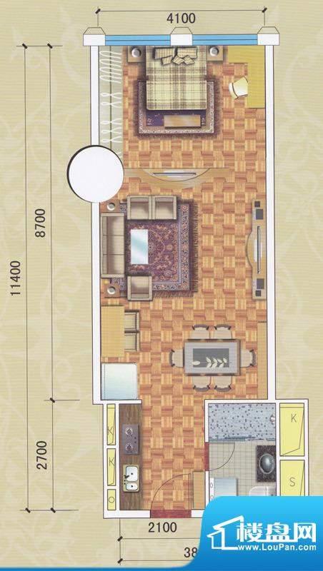 正佳东方国际公寓13面积:67.88平米