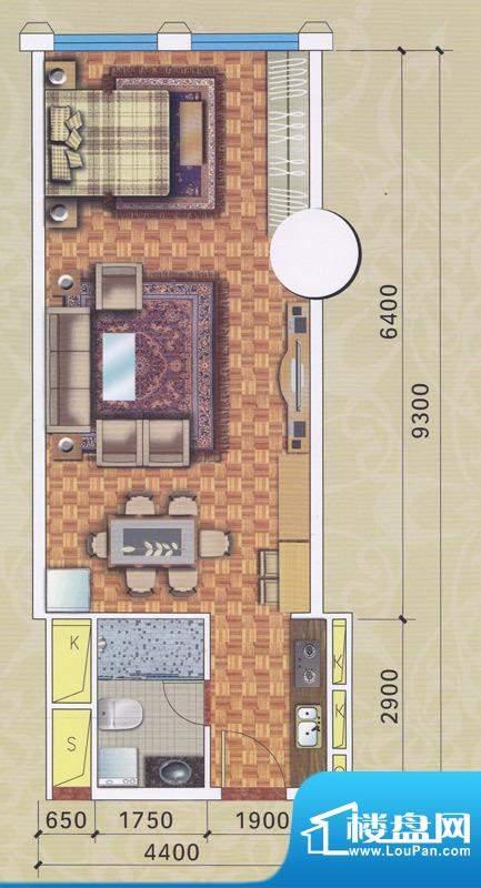 正佳东方国际公寓13面积:60.53平米