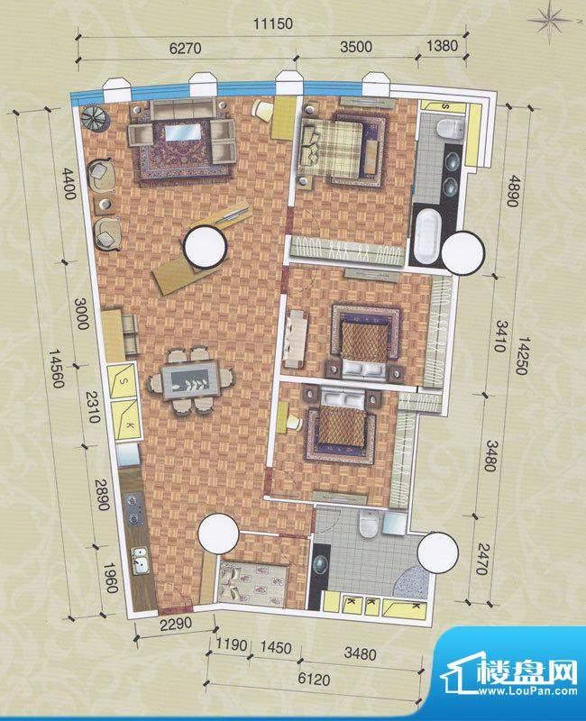 正佳东方国际公寓29面积:220.76平米