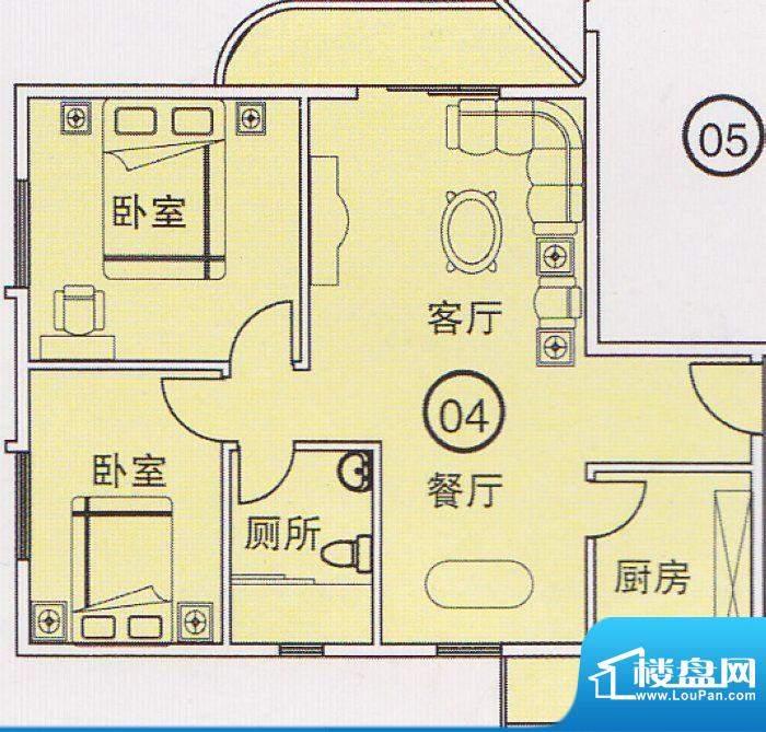 蝴蝶谷A栋04单位 2室面积:0.00平米