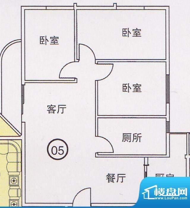 蝴蝶谷A栋05单位 3室面积:0.00平米