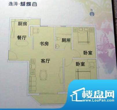 蝴蝶谷B栋08单元 3室面积:101.72平米