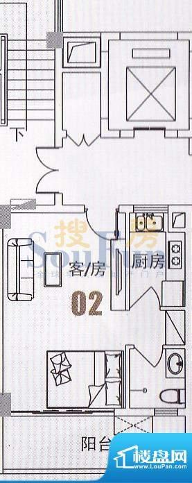 美景国际公寓俊景阁面积:37.87平米