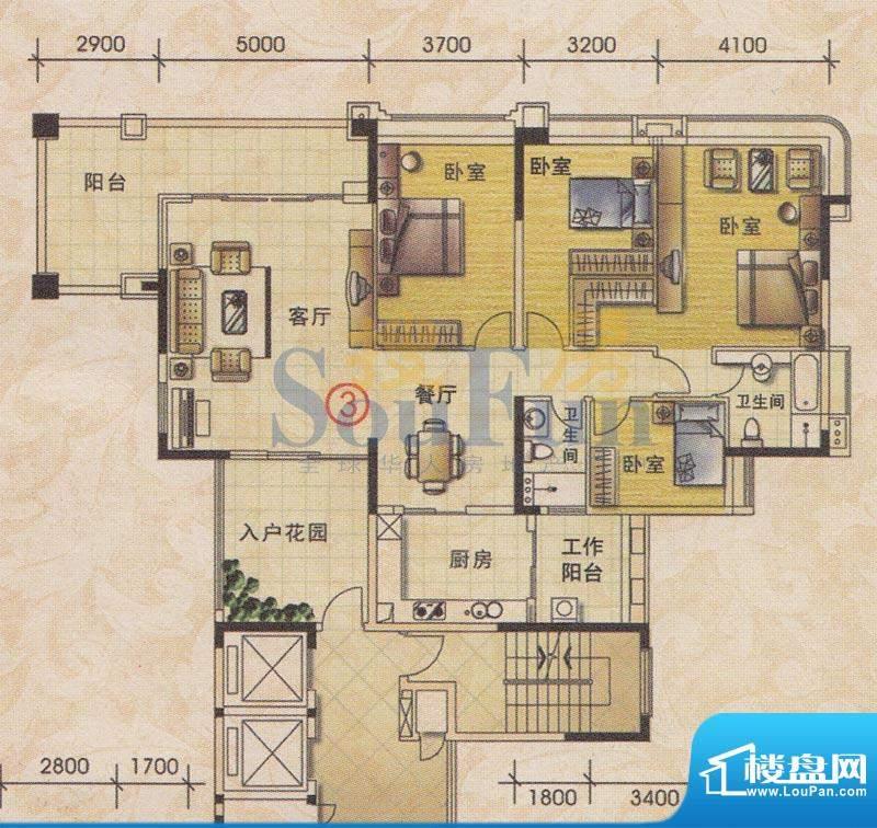 美林轩逸时光B1号楼面积:176.27平米