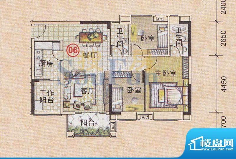美林轩逸时光A7号楼面积:91.83平米