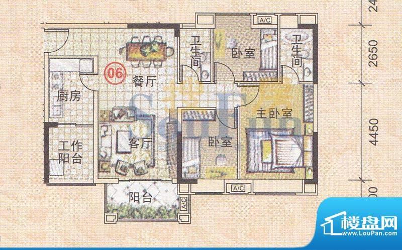 美林轩逸时光A5号楼面积:91.83平米
