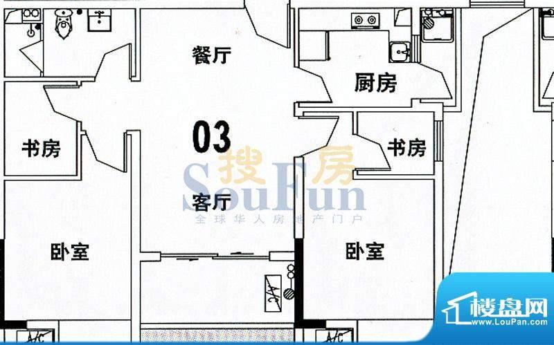 穗和城C栋03单元 4室面积:89.74平米