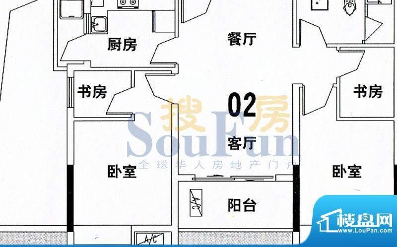 穗和城C栋02单元 4室面积:89.74平米