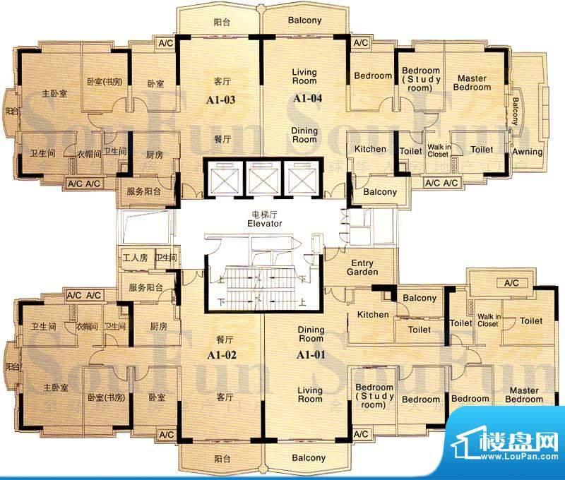 汇景新城龙熹山二期面积:723.64平米