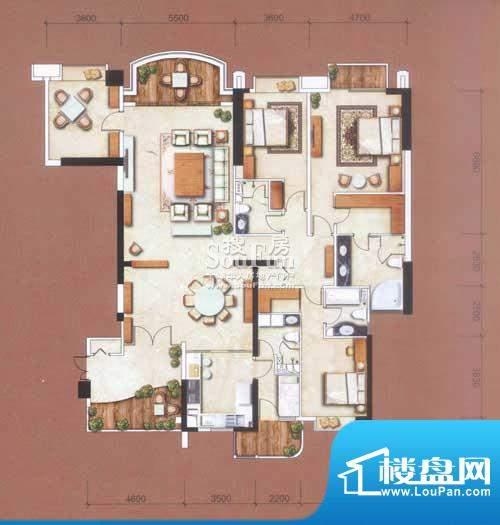 信达阳光海岸290㎡-面积:290.00平米