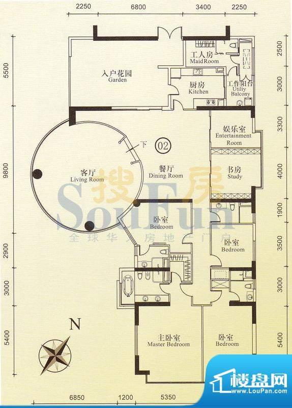 博雅首府B栋7-11层0面积:0.00平米
