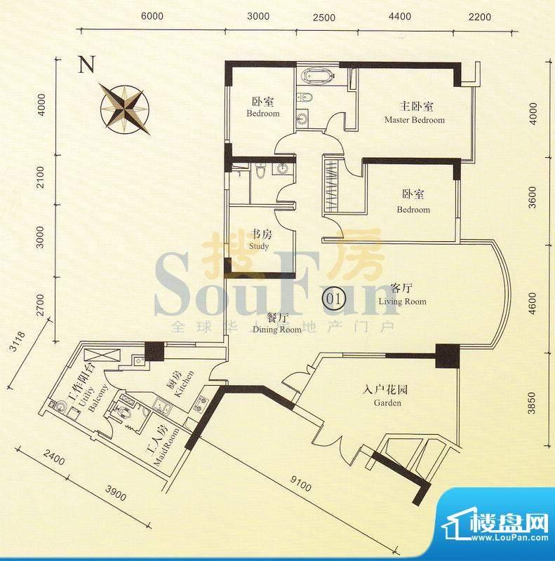博雅首府B栋7-28层0面积:0.00平米