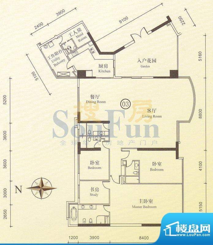 博雅首府B栋12-28层面积:0.00平米