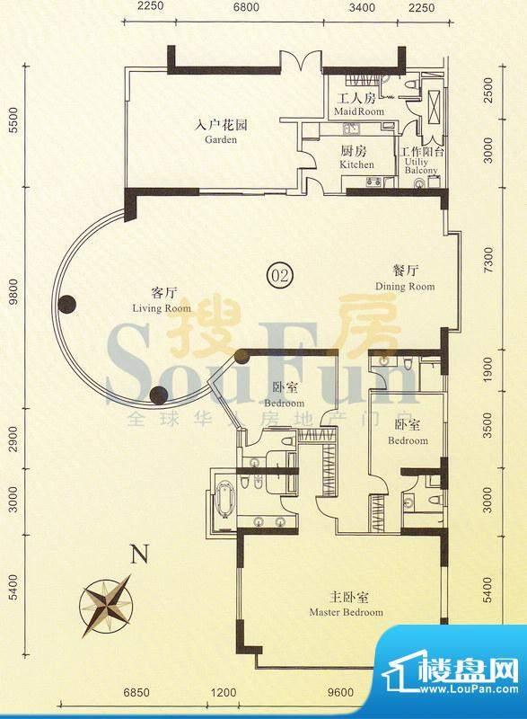 博雅首府B栋23-28层面积:0.00平米