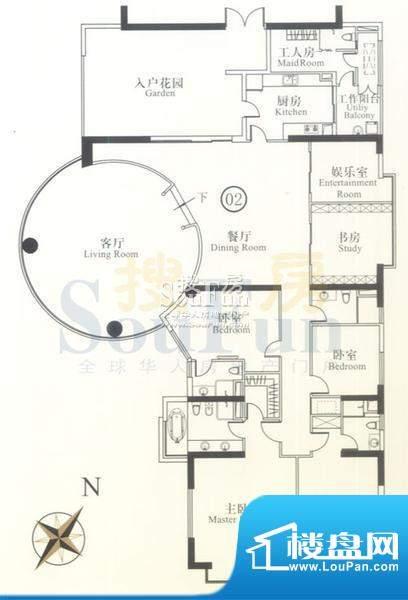 博雅首府B栋7-11层0面积:385.09平米