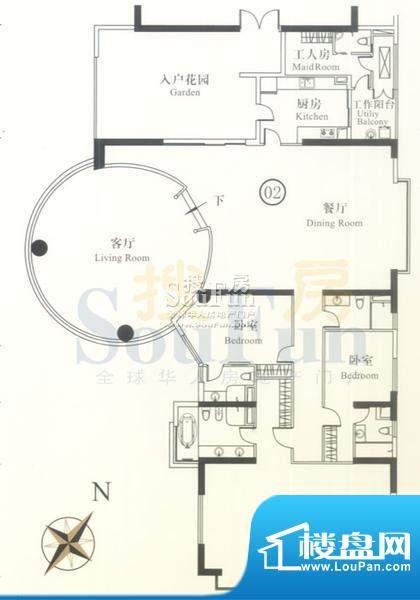 博雅首府B栋12-22层面积:385.09平米