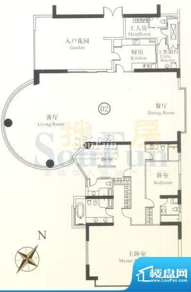 博雅首府B栋23-28层面积:385.09平米
