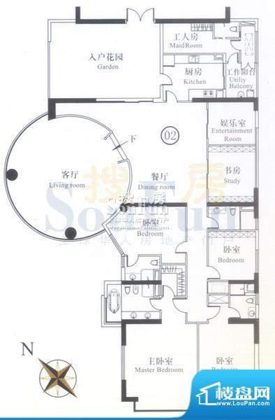 博雅首府A7栋7-11层面积:388.21平米