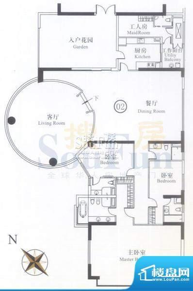 博雅首府A栋12-22层面积:388.21平米