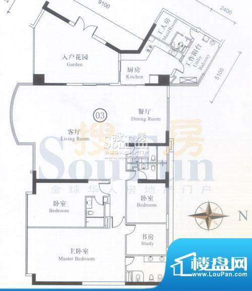博雅首府A栋12-26层面积:337.70平米