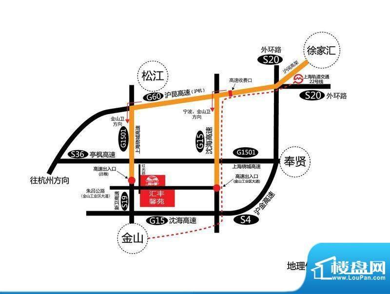 汇丰馨苑交通图