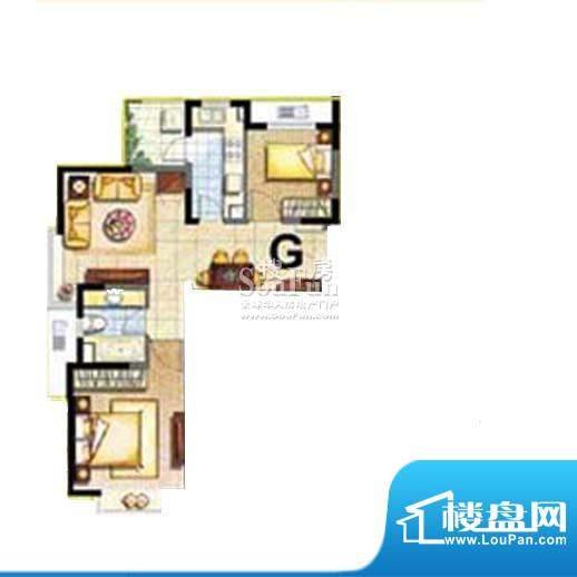 保利家园G户型 2室1面积:83.00平米