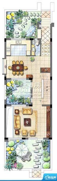 保利家园别墅T1户型面积:0.00平米