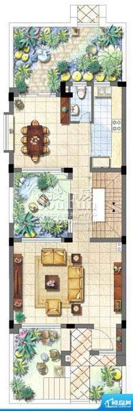 保利家园别墅T4户型面积:0.00平米