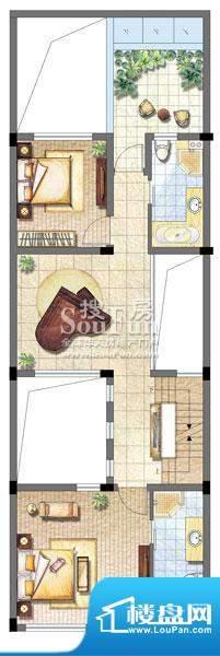 保利家园别墅T3户型面积:0.00平米