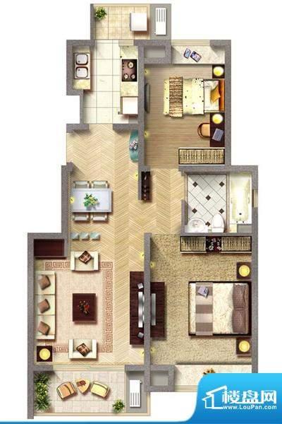保利家园6#楼标准层面积:88.00平米
