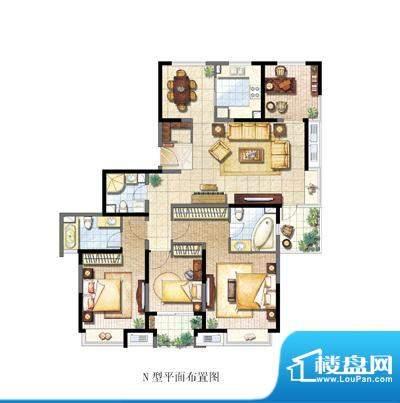 保利家园N户型 4室2面积:180.00平米