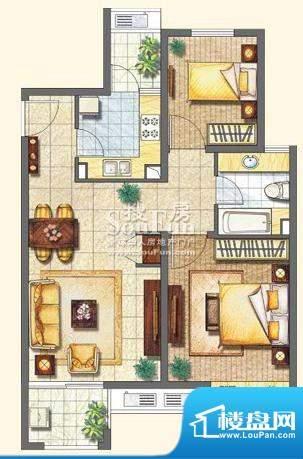 保利家园M户型 2室2面积:89.00平米