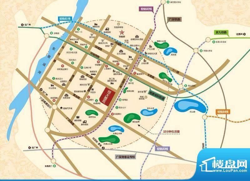 恒大雅苑交通图