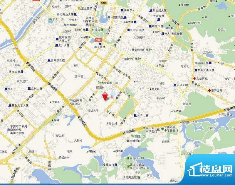 东骏朗晴居交通图
