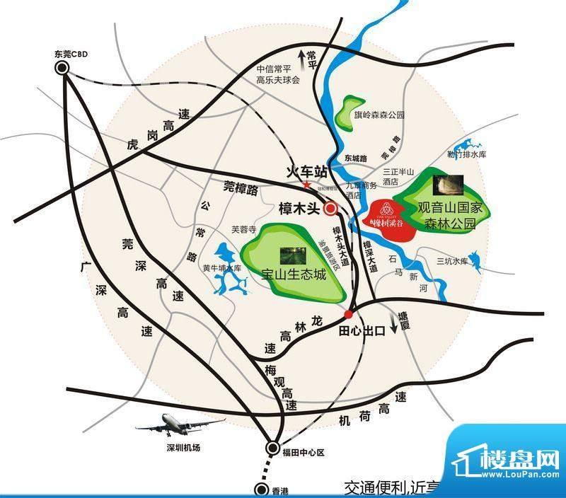 丰泰橡树溪谷交通图