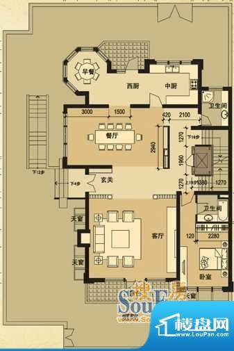 天马相城一期D1联排面积:173.45平米