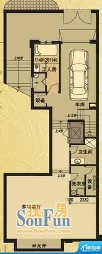 天马相城一期D2联排面积:109.50平米