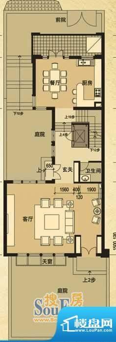 天马相城一期D2联排面积:106.26平米