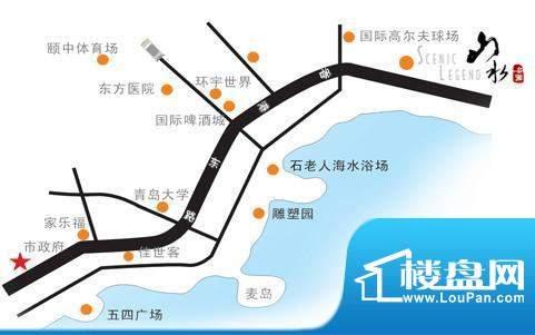 山水名园交通图