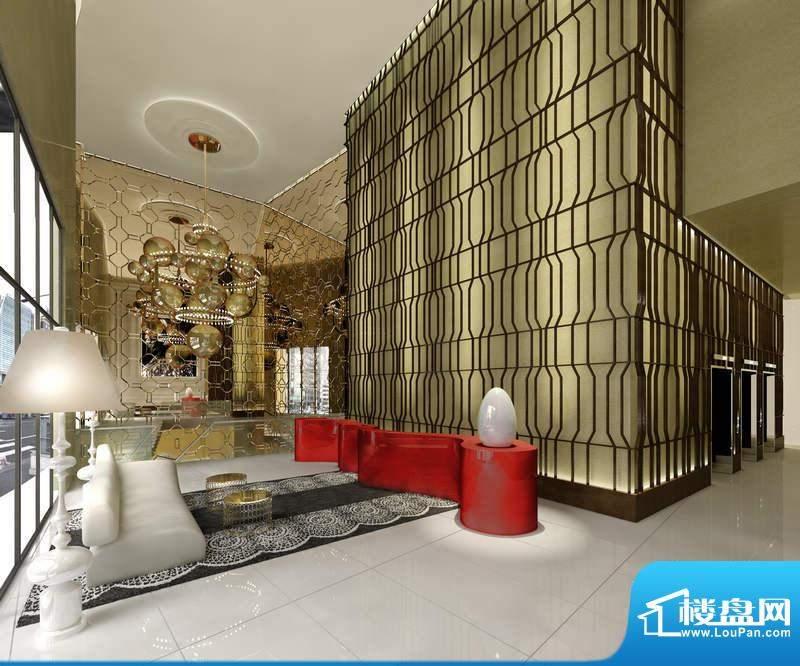 迪纳酒店公寓复式入户大堂hba大师设计