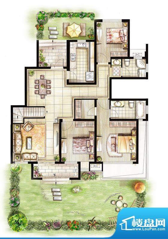 红鼎湾花园2-5号楼多面积:144.00平米