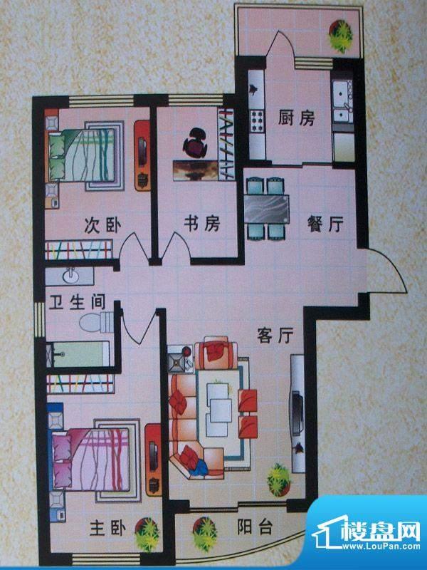 东城明珠2号楼侧门2面积:120.44m平米