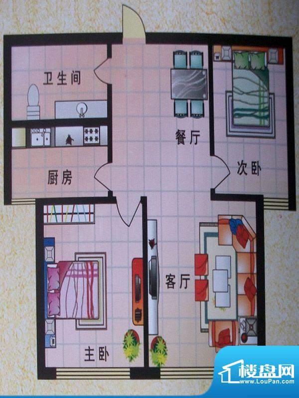 东城明珠2号楼中门2面积:87.85m平米