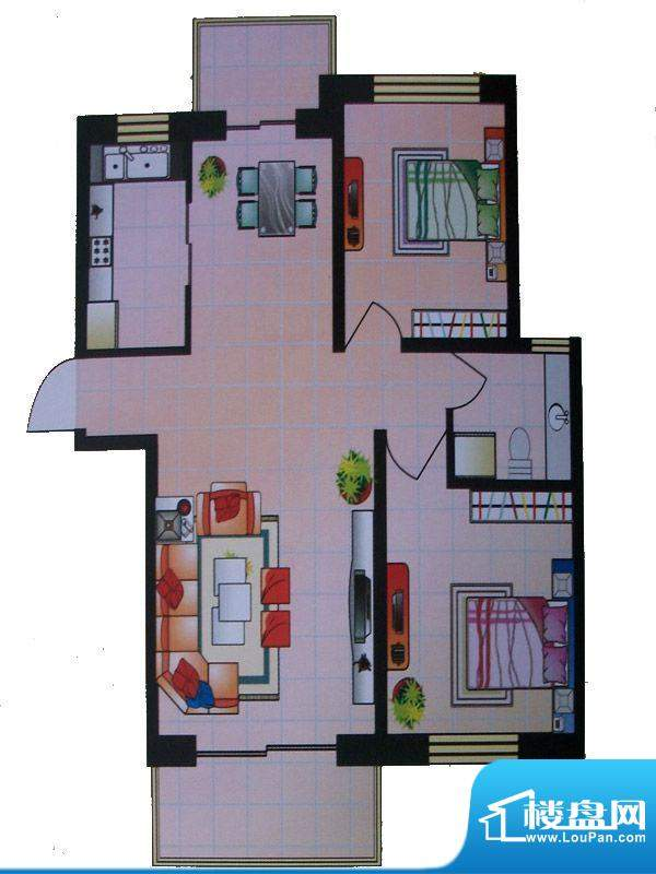 东城明珠3号楼右门2面积:0.00m平米