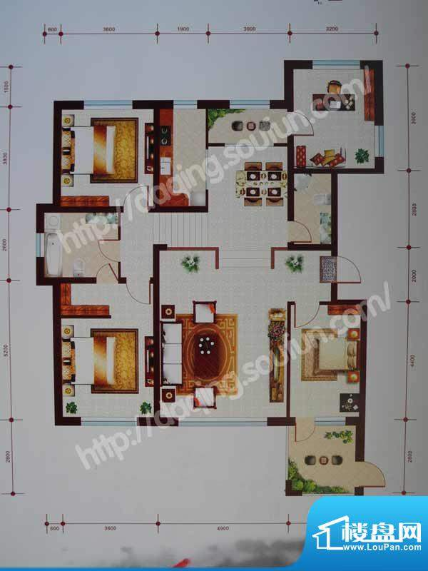 乾和城A1户型 4室2厅面积:166.35m平米